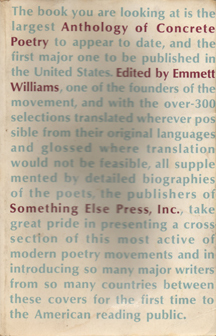 An Anthology Of Concrete Poetry by Emmett Williams