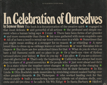 In Celebration of Ourselves by Seymour Rosen