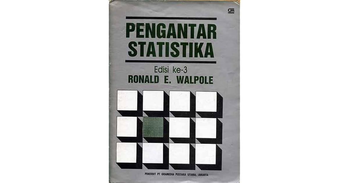 Pengantar Statistika Edisi Ke 3 By Ronald E Walpole