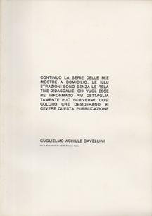 Continuo La Serie Delle Mie Mostre A Domicilio. by Guglielmo Achille Cavellini