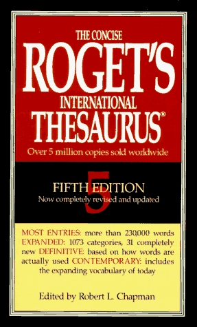 The Concise Roget's International Thesaurus, Revised and Updated, 7th Edition