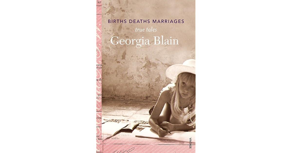 Births Deaths Marriages by Georgia Blain