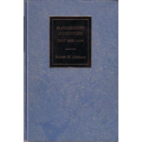 Management accounting text and cases by robert n anthony fandeluxe Gallery