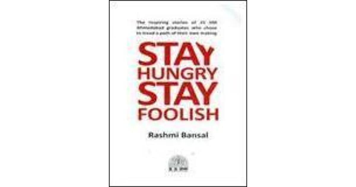 Stay Foolish Stay Hungry Book Pdf