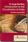 Introduction To The Constitution Of India by Durga Das Basu