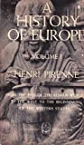 A History of Europe Vol. 1