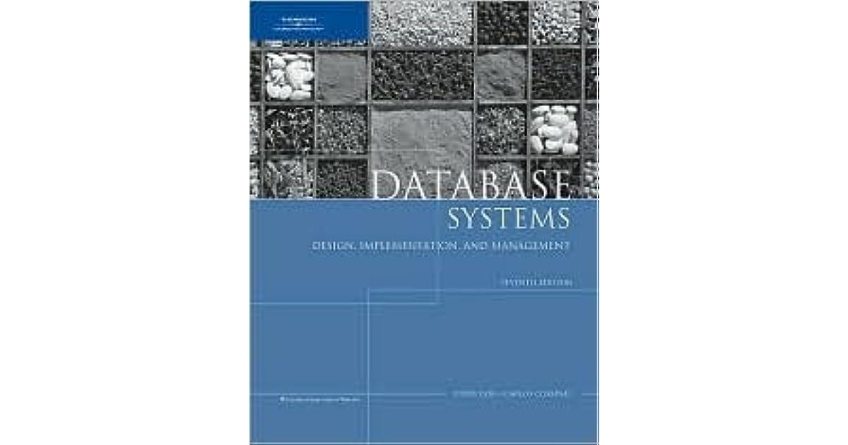 database systems carlos coronel 13th edition pdf