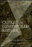 Critiques of Contemporary Rhetoric