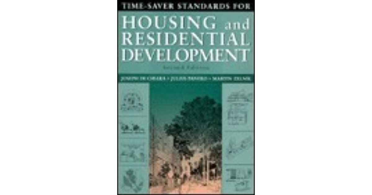 time saver standards for housing and residential development by
