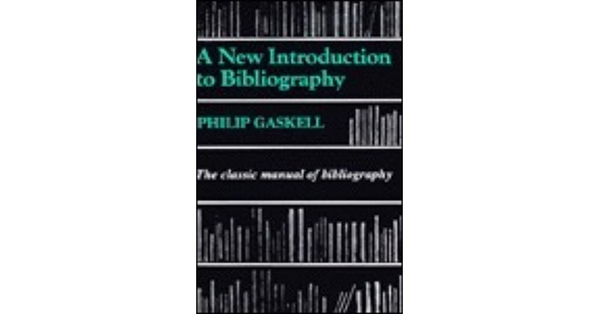 gaskell a new introduction to bibliography pdf