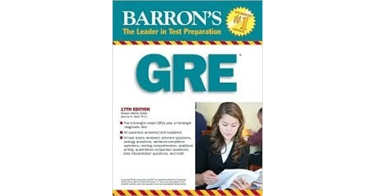 Books barrons pdf gre