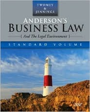 Anderson S Business Law and the Legal Environment, Standard Edition