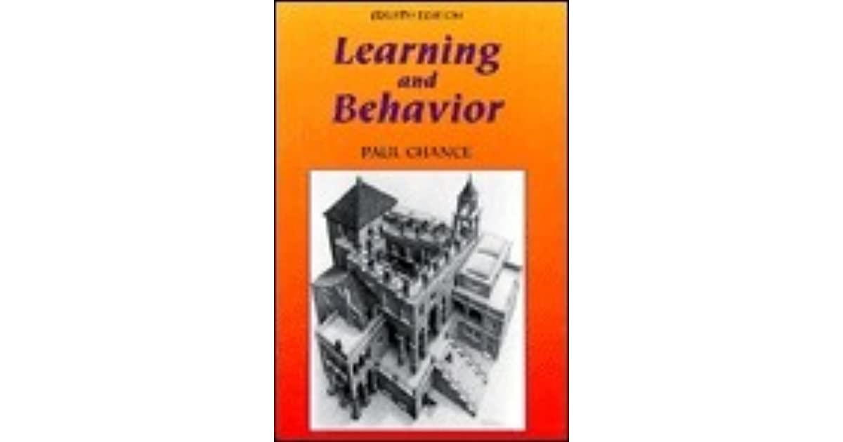 Learning and behavior paul chance