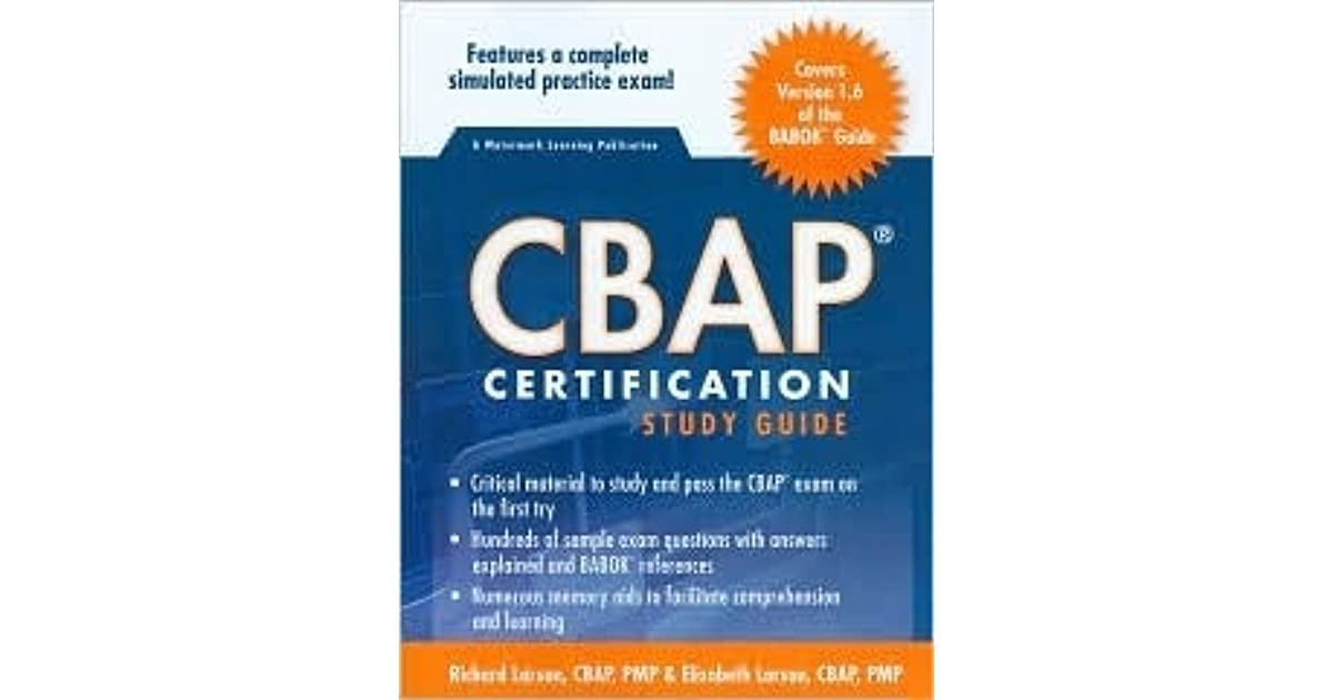 Cbap Certification Study Guide By Richard Larson