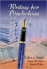 Writing for Psychology [With Infotrac]