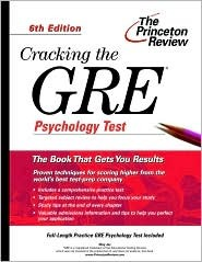 Cracking the GRE Psychology Test, 6th Edition by Meg Jay