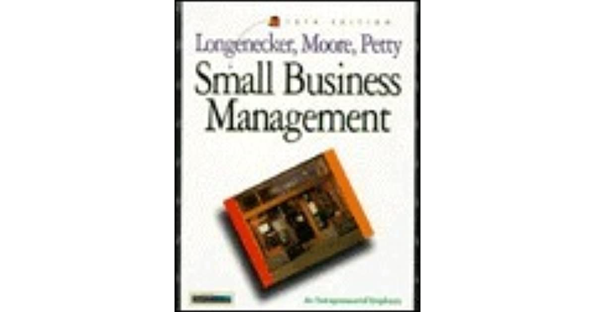 Small business management by justin g longenecker fandeluxe Image collections