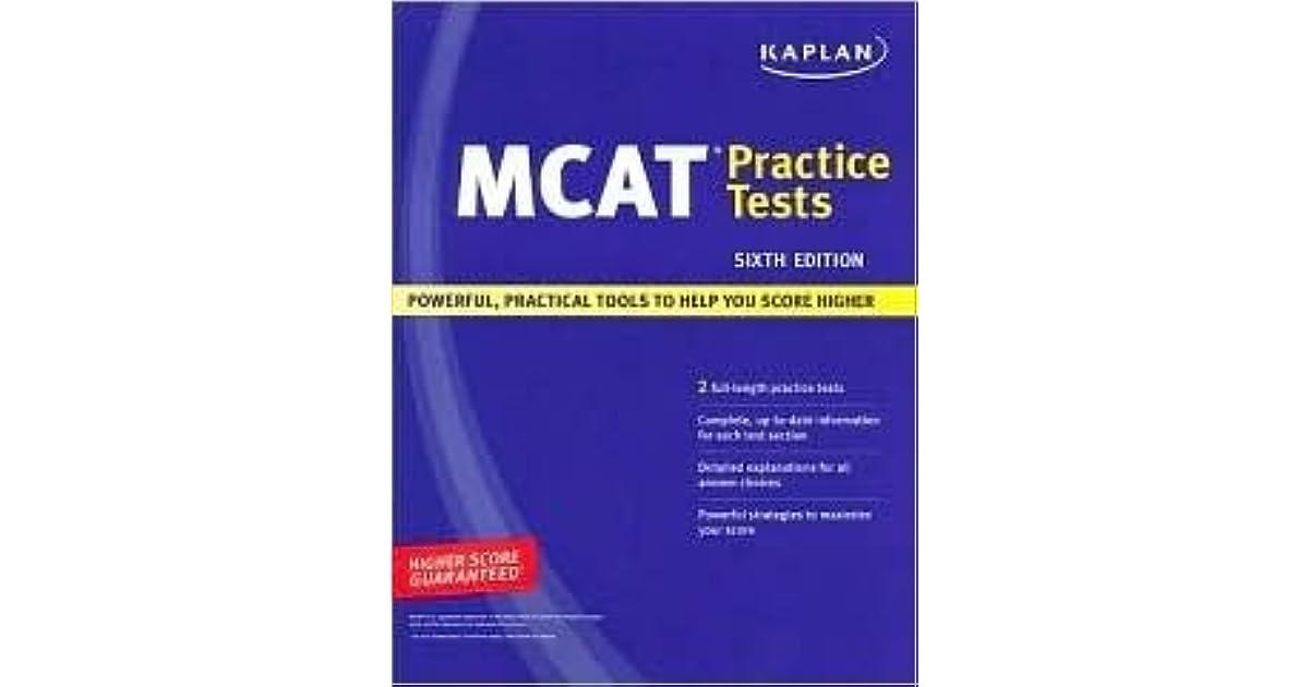 Kaplan MCAT Practice Tests, Sixth Edition by Kaplan Inc