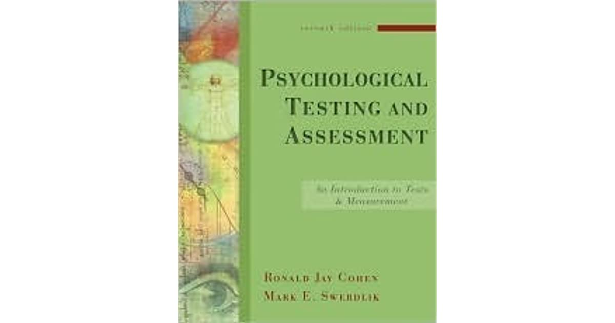 Psychological Testing and Assessment: An Introduction to Tests and
