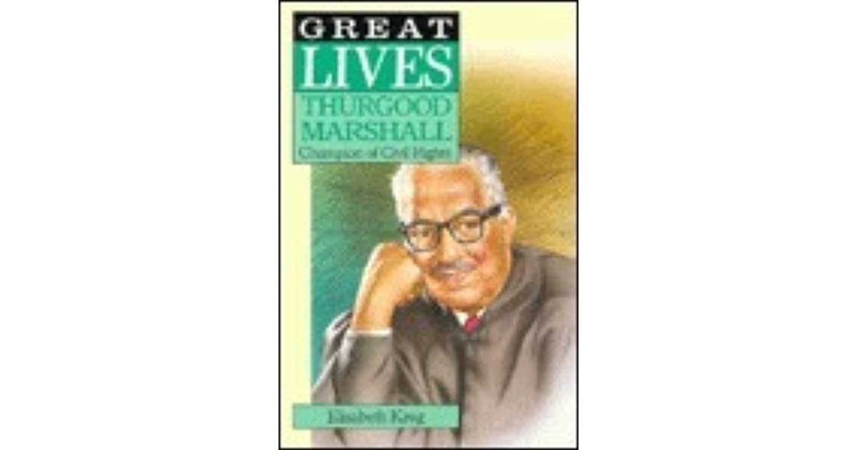Image for Thurgood Marshall (Great Lives)