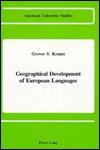 Geographical Development of European Languages Grover S. Krantz