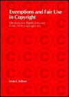 Exemptions and Fair Use in Copyright: The Exclusive Rights Tensions in the 1976 Copyright ACT
