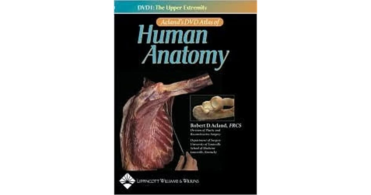 Aclands Dvd Atlas Of Human Anatomy Dvd 1 The Upper Extremity By