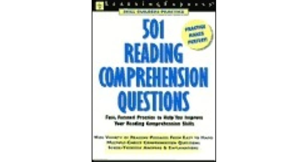 501 Reading Comprehension Questions By Learningexpress 3 Star Ratings