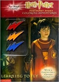 Harry Potter and the Sorcerer's Stone Coloring Adventures:  Learning to Fly (With a Collectible Cutout Character and Lightning Bolt Shaped Crayons)