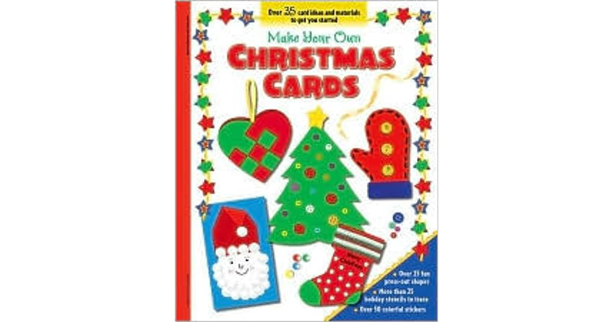 Make Your Own Christmas Cards With 2 Sticker Sheets And 4 Card