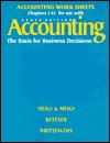 Accounting : The Basis for Business Decisions; Group A Problems, Chapters 1-15