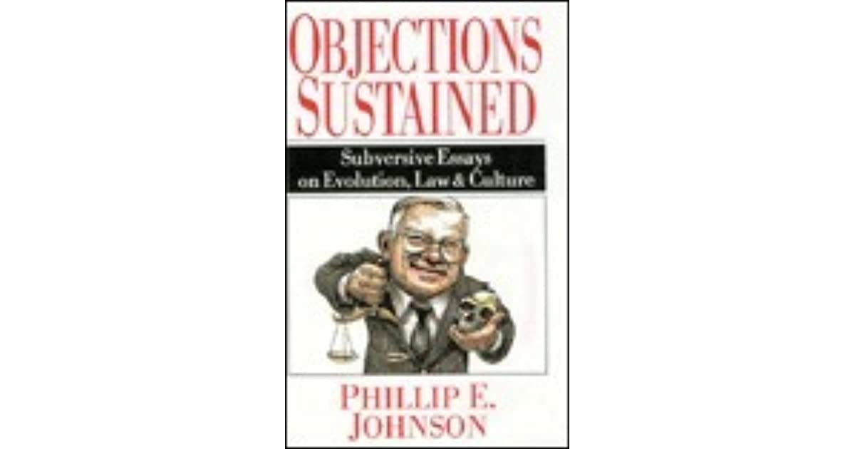 culture essay evolution law objection subversive sustained