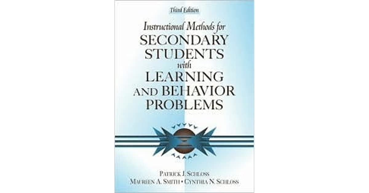 Instructional Methods For Secondary Students With Learning And