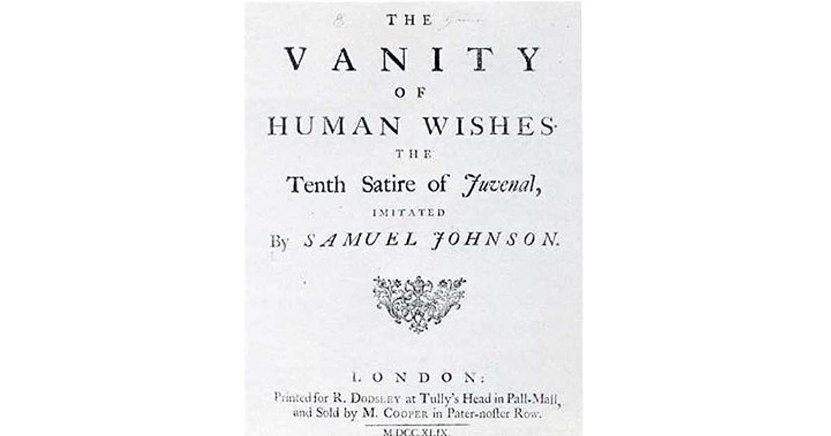The Vanity Of Human Wishes By Samuel Johnson