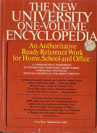 The New University One Volume Encyclopedia By Franklin Dunham