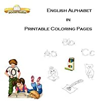 English Alphabet in Printable Coloring Pages (paperback)