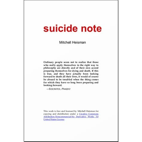 suicide note by mitchell heisman
