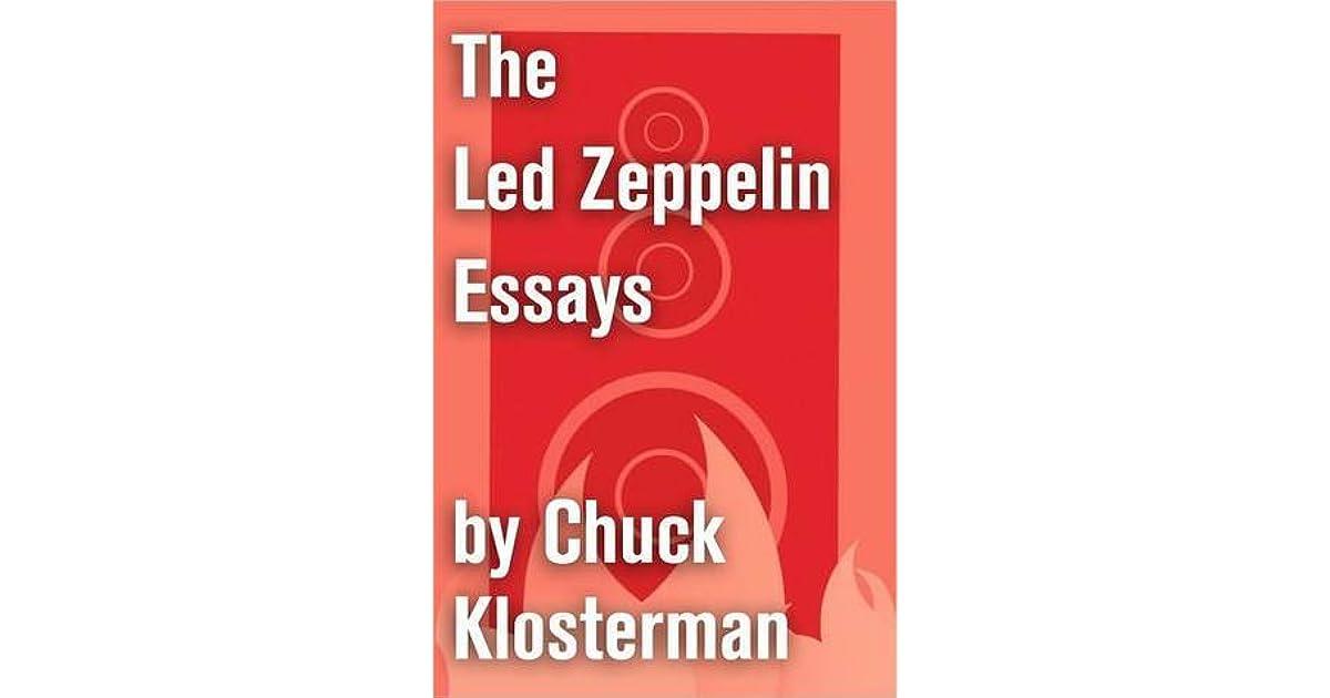 chuck klosterman essays online Homework help in geography chuck klosterman essays online buying custom essay dissertation meaning of the word.