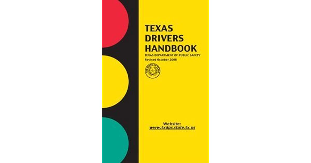 texas dps drivers handbook 2016