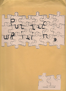 Puzzle Writing by tENTATIVELY, a cONVENIENCE