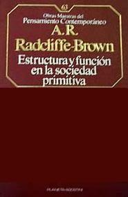 Estructura Y Función En La Sociedad Primitiva By Alfred