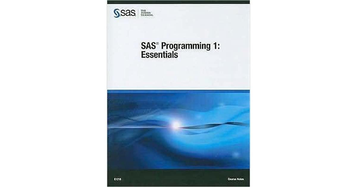 Programming 1 pdf sas essentials