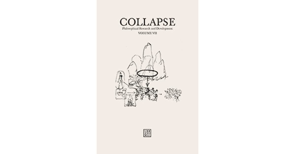 Collapse vol vii culinary materialism by reza negarestani fandeluxe Gallery