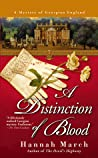 A Distinction of Blood (Robert Fairfax, #4)