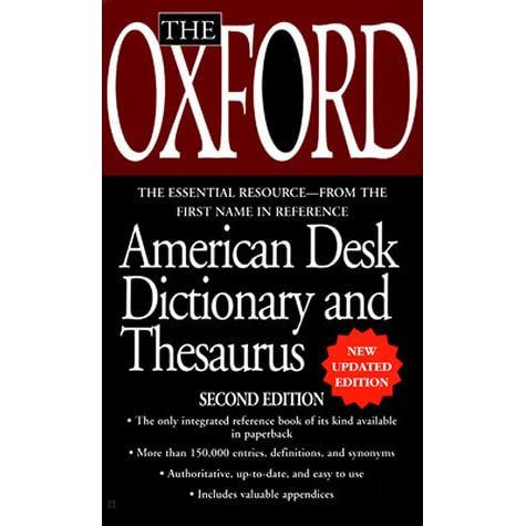 The oxford desk dictionary and thesaurus by oxford university press stopboris Gallery
