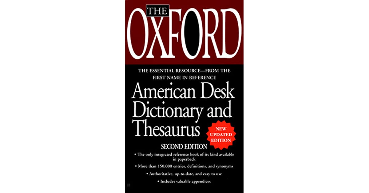 The oxford desk dictionary and thesaurus by oxford university press stopboris Images