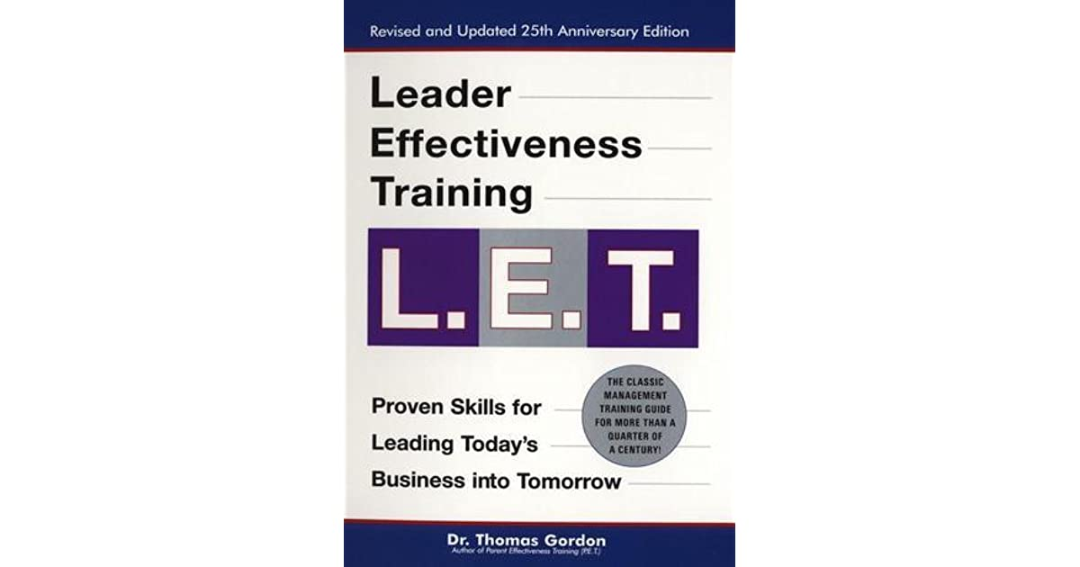 Orban S Review Of Leader Effectiveness Training L E T