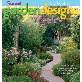 The big book of garden designs more than 110 complete for Garden design books
