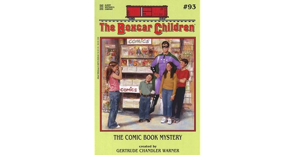 Boxcar Children Book Cover : The comic book mystery by gertrude chandler warner