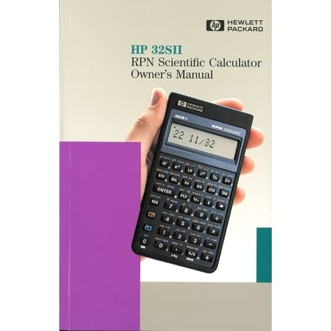hp 32sii rpn scientific calculator owner s manual by hewlett packard rh goodreads com Old HP Calculators hewlett packard 32sii rpn scientific calculator manual